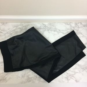 Giuliani Faux Leather and Knit Panel Pants NWT